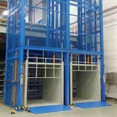 液压链条导轨式升降货梯的应用